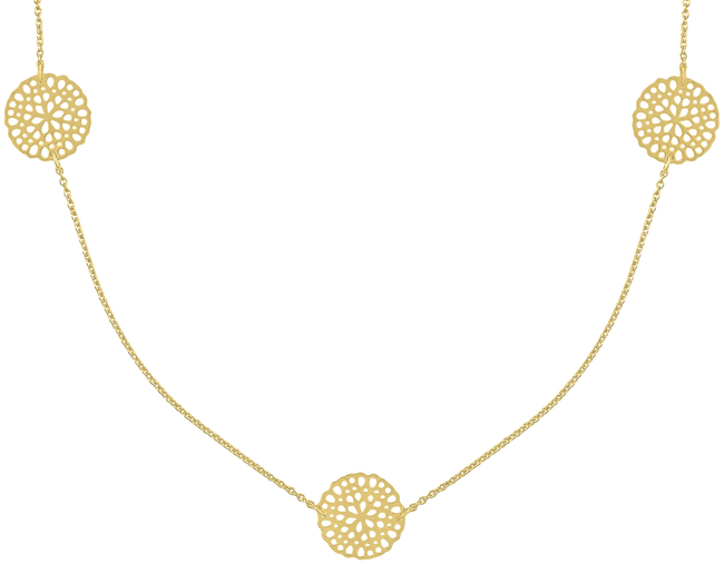 Gouden JEWELLERY BY SOPHIE Ketting NECKLACE LITTLE ROUNDS - large