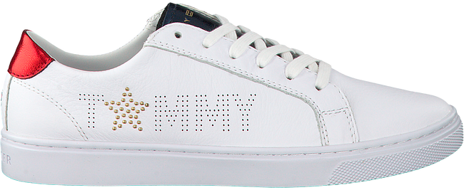 Witte TOMMY HILFIGER Sneakers TOMMY STAR METALLIC SNEAKER  - large