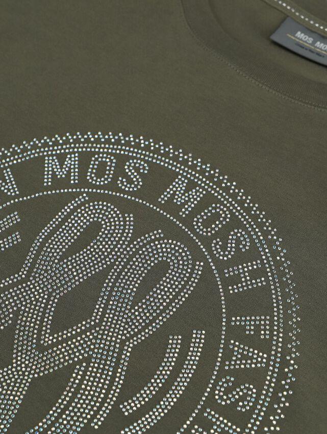 Groene MOS MOSH T-shirt LEAH HOLI O-SS TEE - larger