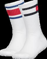 Witte TOMMY HILFIGER Sokken TH KIDS FLAG 2P  - medium