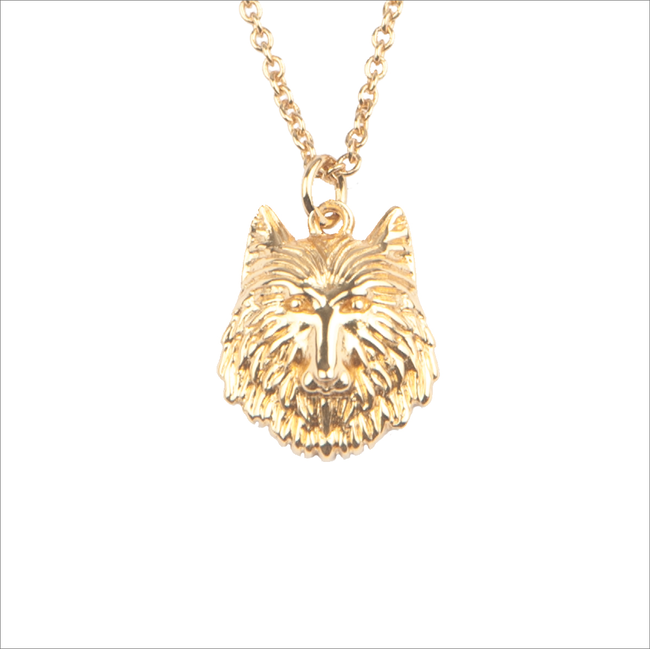 Gouden ALLTHELUCKINTHEWORLD Ketting SOUVENIR NECKLACE WOLF - large