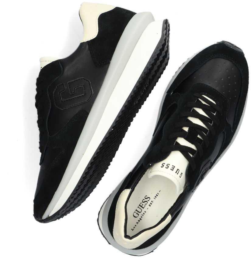 Zwarte GUESS Lage sneakers MADE  - larger
