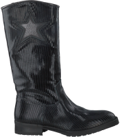Zwarte HIP Lange laarzen H1284  - medium