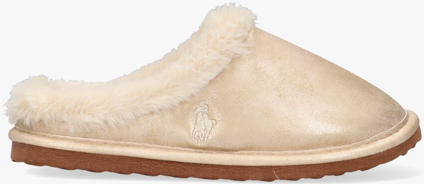 Gouden POLO RALPH LAUREN Pantoffels CHARLOTTE SCUFF  - larger