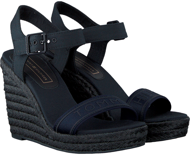 Blauwe TOMMY HILFIGER Sandalen COLORFUL TOMMY WEDGE SANDAL  - large