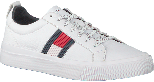 Witte TOMMY HILFIGER Sneakers FLAG DETAIL  - large