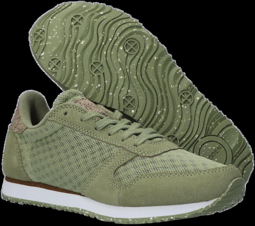Groene WODEN Lage sneakers YDUN SUEDE MES II  - larger