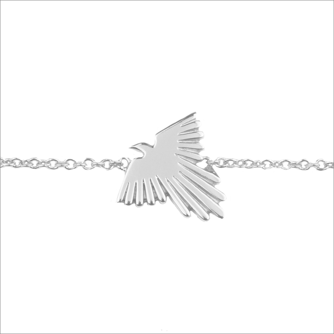 Zilveren ALLTHELUCKINTHEWORLD Armband SOUVENIR BRACELET EAGLE - large