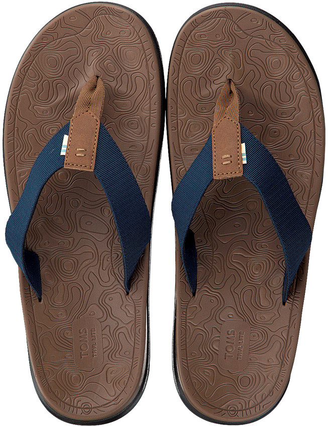 Blauwe TOMS Slippers TRAVAL LITE  - larger