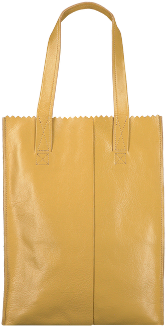 Gele MYOMY Handtas MY PAPER BAG LONG HANDLE ZIP - large