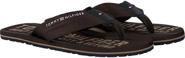 Bruine TOMMY HILFIGER Slippers SMART TH BEACH SANDAL - large