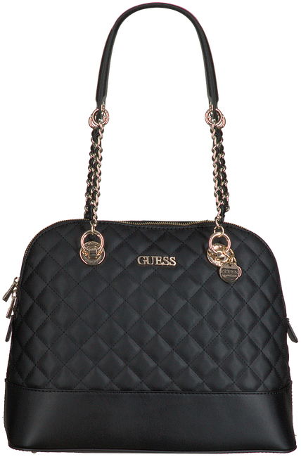 Zwarte GUESS Handtas ILLY DOME SATCHEL - large