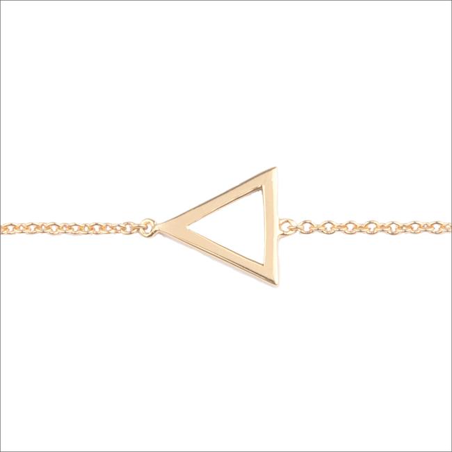 Gouden ALLTHELUCKINTHEWORLD Armband SOUVENIR BRACELET OPEN TRIANGL - large