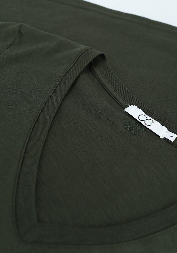 Donkergroene CC HEART T-shirt BASIC V-NECK TSHIRT - larger