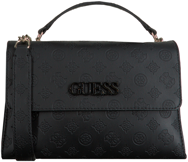 Zwarte GUESS Schoudertas JANELLE CONVERTIBLE XBODY FLAP  - large