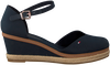 Blauwe TOMMY HILFIGER Sandalen BASIC CLOSED TOE MID WEDGE  - small