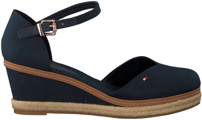 Blauwe TOMMY HILFIGER Sandalen BASIC CLOSED TOE MID WEDGE  - large