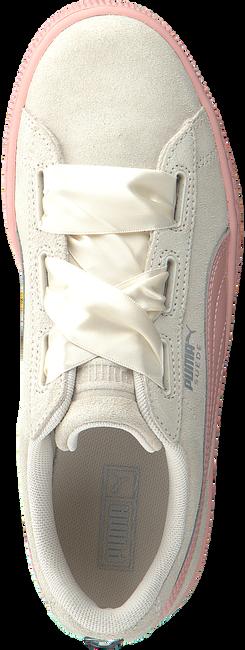 Beige PUMA Sneakers SUEDE HEART JEWEL JR  - large