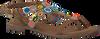Bruine LAZAMANI Sandalen 75.587 - small