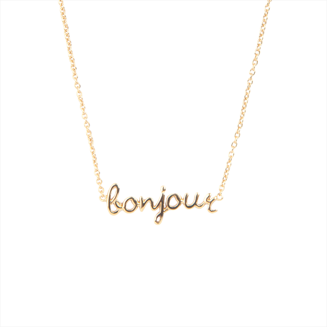 Gouden ALLTHELUCKINTHEWORLD Ketting URBAN NECKLACE BONJOUR - large