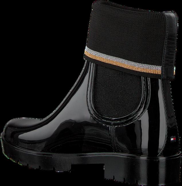 Zwarte TOMMY HILFIGER Regenlaarzen KNITTED SOCK RAIN BOOT - large