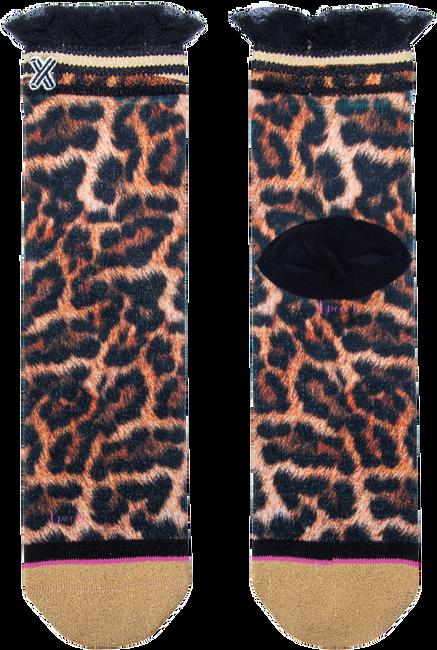 Bruine XPOOOS Sokken LUCILLE LEOPARD  - large