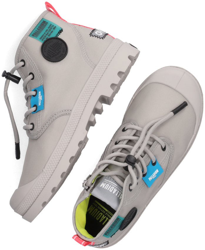 Grijze PALLADIUM Hoge sneaker OVERLAB NEON PAMPA K  - larger