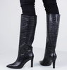 Zwarte LOLA CRUZ Lange laarzen 301B78BK - small