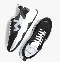 Zwarte WOMSH Lage sneakers FUTURA GLITTER INK  - medium