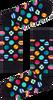 Zwarte HAPPY SOCKS Sokken CLASHING DOT SOCK  - small