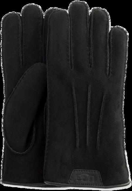 Zwarte UGG Handschoenen CASUAL GLOVE WITH LEATHER LOGO - large