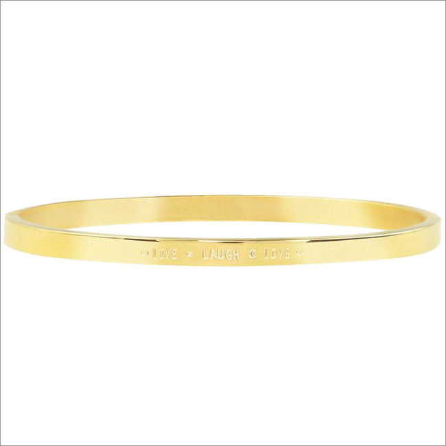 Gouden MY JEWELLERY Armband LIVE LAUGH LOVE BANGLE  - large