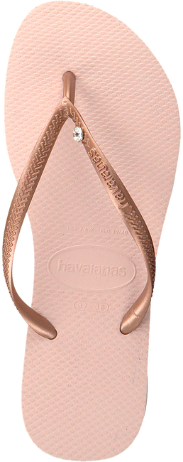 Roze HAVAIANAS Teenslippers SLIM CRYSTAL GLAMOUR  - large