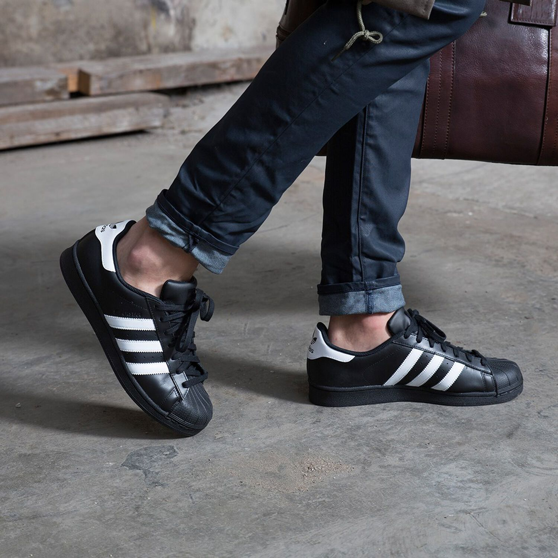 huge selection of 74f2e 9eb37 Zwarte ADIDAS Sneakers SUPERSTAR HEREN