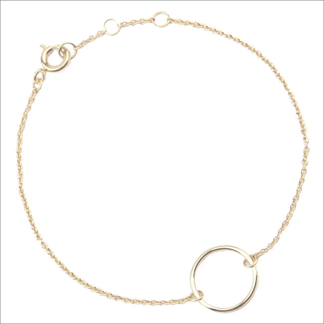 Gouden ATLITW STUDIO Armband SOUVENIR BRACELET CIRCLE - large