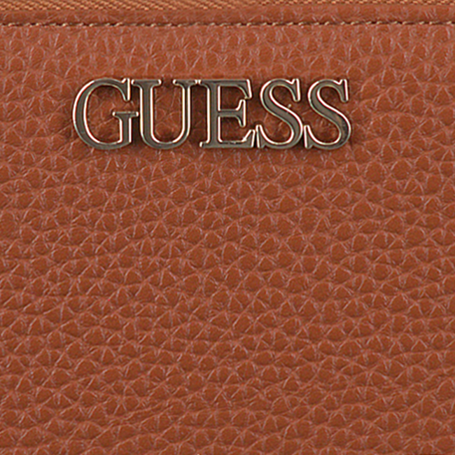 Cognac GUESS Portemonnee ALBY SLG LARGE ZIP AROUND  - large