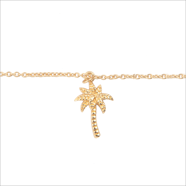 Gouden ALLTHELUCKINTHEWORLD Armband SOUVENIR BRACELET PALM TREE - large