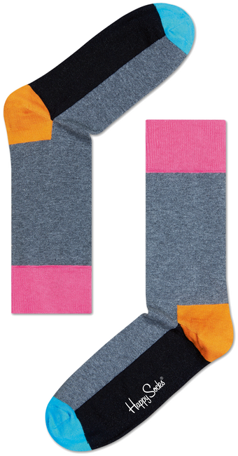 Grijze HAPPY SOCKS Sokken FIVE COLOUR - large