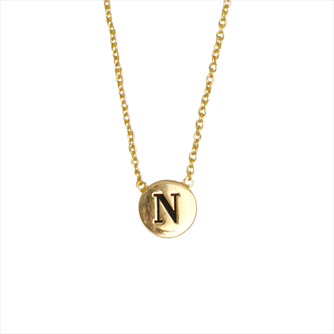 Gouden ALLTHELUCKINTHEWORLD Ketting CHARACTER NECKLACE LETTER GOLD - large
