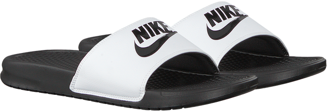 Witte NIKE Slippers BENASSI JDI MEN  - large