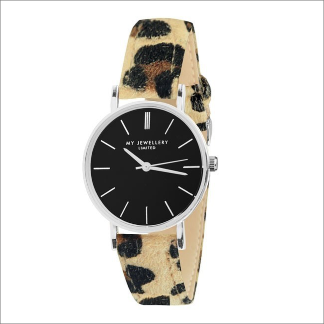 Bruine MY JEWELLERY Horloge LEOPARD WATCH - large