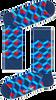 Blauwe HAPPY SOCKS Sokken OPTIC SQUERE - small