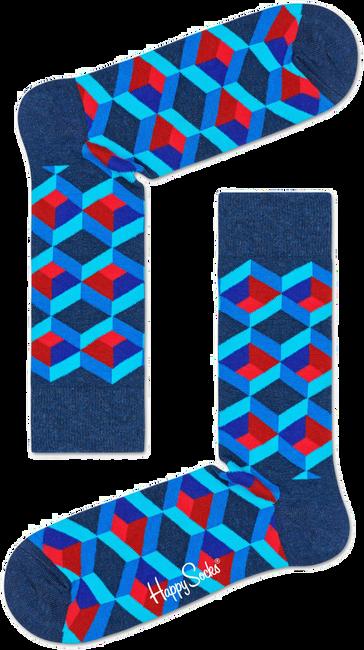 Blauwe HAPPY SOCKS Sokken OPTIC SQUERE - large