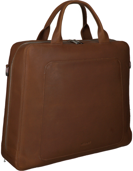 Cognac MYOMY Laptoptas MY LOCKER BAG BUSINESS  - large