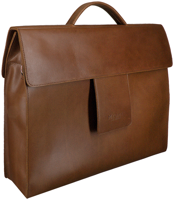 Bruine MYOMY Laptoptas MY HOME BAG BUSINESS BAG  - large