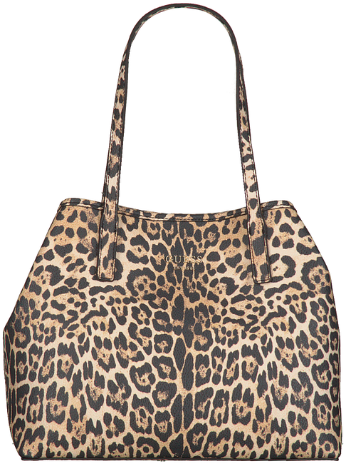 Beige GUESS Handtas VIKKY TOTE  - large