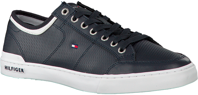 Blauwe TOMMY HILFIGER Sneakers CORE CORPORATE LEATHER SNEAKER  - large