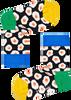 Zwarte HAPPY SOCKS Sokken KIDS SUNNY SIDE UP SOCK  - small