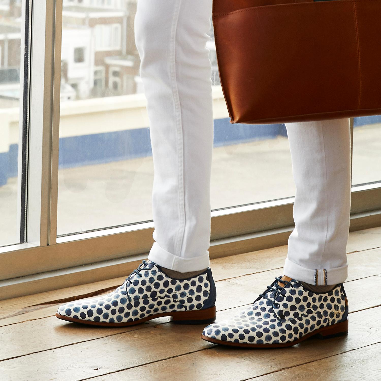 Blauwe REHAB Nette schoenen GREG SPOTS LIZ | Omoda