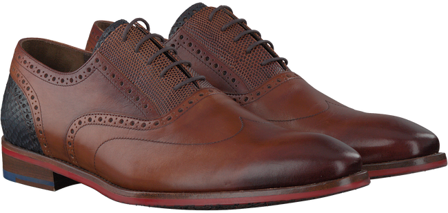 Cognac FLORIS VAN BOMMEL Nette schoenen 19062  - large